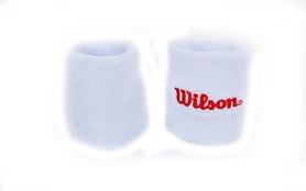 Повязка на кисть (напульсник) Wilson BC-5764-W бело-красная