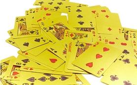 Фото 5 к товару Карты игральные с пластиковым покрытием Gold 100 Dollar IG-4566-G