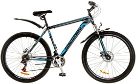 """Велосипед горный Discovery Trek AM 14G DD 29"""" 2017 черно-сине-серый, рама - 21"""""""