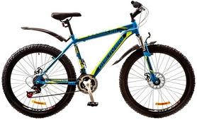 """Велосипед горный Discovery Trek AM 14G DD 26"""" 2017 сине-черно-зеленый, рама - 18"""""""