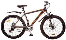 """Велосипед горный Discovery Trek AM 14G DD 26"""" 2017 серо-черно-оранжевый, рама - 18"""""""