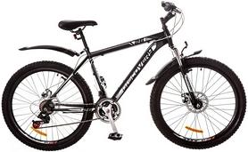 """Велосипед горный Discovery Trek AM 14G DD 26"""" 2017 черно-серо-белый, рама - 18"""""""