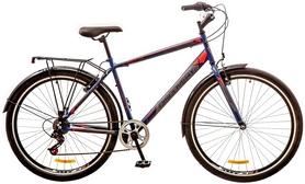 """Велосипед городской Discovery Prestige Man 14G Vbr 29"""" 2017 сине-серо-красный, рама - 19,5"""""""