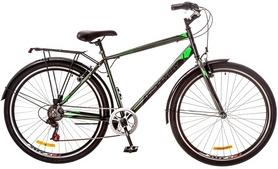 """Велосипед городской Discovery Prestige Man 14G Vbr 29"""" 2017 черно-зеленый, рама - 19,5"""""""