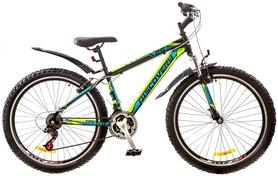 """Велосипед горный Discovery Trek AM 14G Vbr 26"""" 2017 черный-синий-зеленый, рама - 15"""""""