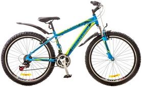 """Велосипед горный Discovery Trek AM 14G Vbr 26"""" 2017 сине-черно-зеленый, рама - 15"""""""