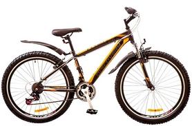 """Велосипед горный Discovery Trek AM 14G Vbr 26"""" 2017 серо-черно-оранжевый, рама - 15"""""""