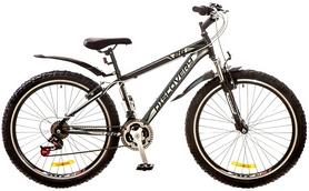 """Велосипед горный Discovery Trek AM 14G Vbr 26"""" 2017 черно-серо-белый, рама - 15"""""""