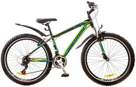 """Велосипед горный Discovery Trek AM 14G Vbr 26"""" 2017 черно-сине-зеленый, рама - 18"""""""