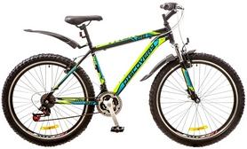 """Велосипед горный Discovery Trek AM 14G Vbr 26"""" 2017 сине-черно-зеленый, рама - 18"""""""