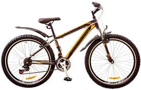 """Велосипед горный Discovery Trek AM 14G Vbr 26"""" 2017 серо-черно-оранжевый, рама - 18"""""""