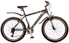 """Велосипед горный Discovery Trek AM 14G Vbr 26"""" 2017 черно-серо-белый, рама - 18"""""""