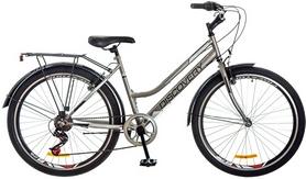 "Велосипед городской женский Discovery Prestige Woman 14G Vbr 26"" 2017 серый, рама - 17"""