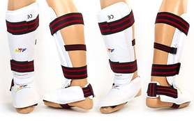 Фото 2 к товару Защита для ног (голень+стопа) разбирающаяся ZLT BO-4080-W белая