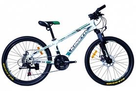 """Велосипед подростковый горный Kinetic Sniper-Disc 24"""" белый, рама - 15"""""""