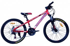 """Велосипед подростковый горный Kinetic Sniper-Disc 24"""" красный, рама - 15"""""""
