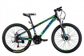 """Велосипед подростковый горный Kinetic Sniper-Disc 24"""" черный, рама - 15"""""""