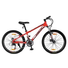 """Велосипед подростковый горный Kinetic Sniper 24"""" красный, рама - 12"""""""