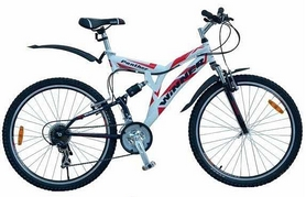 "Велосипед горный Winner Panther Disk 26"" бело-красный, рама – 19"""