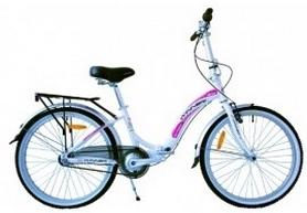 """Велосипед складной городской Winner Ibiza 24"""" бело-розовый"""