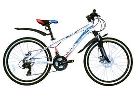 "Велосипед подростковый горный Winner Bullet 24"" белый, рама - 12,5"""