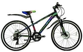 """Велосипед подростковый горный Winner Bullet 24"""" черный, рама - 12,5"""""""