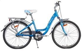 """Велосипед подростковый городской Winner Infinity 24"""" голубой, рама - 14"""""""