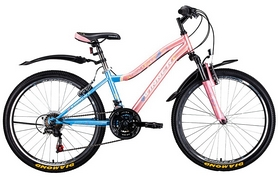 """Велосипед подростковый горный Winner Candy 24"""" сине-розовый, рама - 13"""""""