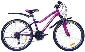 """Велосипед подростковый горный Winner Candy 24"""" фиолетово-малиновый, рама - 13"""""""