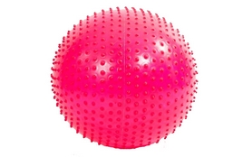 Распродажа*! Мяч для фитнеса (фитбол) массажный HMS 55 см розовый