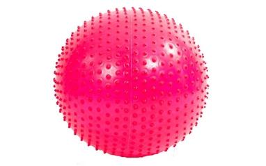 Мяч для фитнеса (фитбол) массажный HMS 55 см розовый