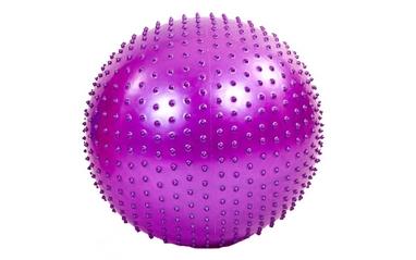 Мяч для фитнеса (фитбол) массажный HMS 55 см фиолетовый