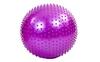 Мяч для фитнеса (фитбол) массажный HMS 55 см фиолетовый - фото 1
