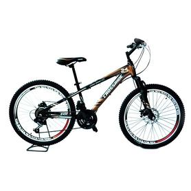 """Велосипед подростковый горный Crossride Storm 24"""" черный, рама - 13"""""""