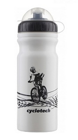 Фляга велосипедная Cyclotech Water Bottle CBOT-1W 680 мл белая