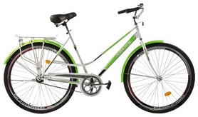 """Велосипед городской женский Ardis City Style 26"""" белый/зеленый, рама - 19"""""""