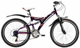 """Велосипед подростковый горный Winner Twister 24"""" фиолетовый, рама - 15"""""""