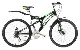 """Велосипед горный Winner Panther 26"""" 2016 черно-зеленый, рама - 21"""""""