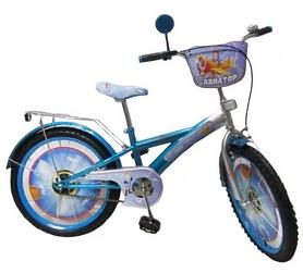 """Велосипед детский Baby Tilly Авиатор 20"""" blue/silver"""