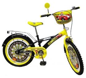 """Велосипед детский Baby Tilly Автогонщик 20"""" black/yellow"""