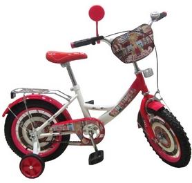"""Велосипед детский Baby Tilly Автоледи 14"""" white/crimson"""