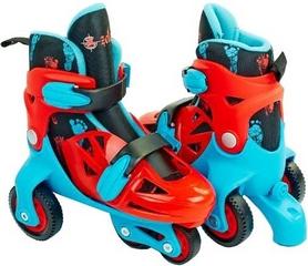 Коньки роликовые раздвижные детские Kepai YX-0147N-BL голубой/красный