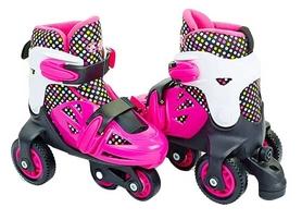 Коньки роликовые раздвижные детские Kepai YX-0147N-P розовый/белый