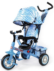 Велосипед трехколесный Baby Tilly Zoo-Trike T-342 темно-синий 2018