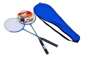 Набор для бадминтона (2 ракетки, чехол) Boshika 209-B синий