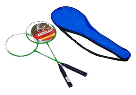 Набор для бадминтона (2 ракетки, чехол) Boshika 802-G зеленый