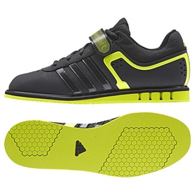 Штангетки Adidas Powerlift II Weightlifting черно-салатовые