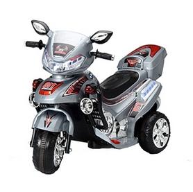 Электромобиль мотоцикл детский Baby Tilly T-727 серебрянный