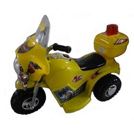 Электромобиль мотоцикл детский Baby Tilly T-723 желтый