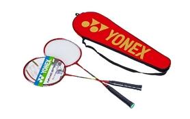 Набор для бадминтона (2 ракетки, чехол) Yonex BD-5531-R красно-серый